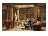 """La Répétition du """"Joueur de Flûte"""" et de """"la Femme de Diomède"""" dans l'atrium de la Maison"""