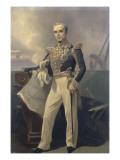 Portrait d'Armand-Joseph  amiral Bruat (1796-1855)- représenté commandant en chef de l'escadre de