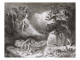 """""""Faust"""" de Goethe: L'ombre de Marguerite apparaissant à Faust: """"Laisse cet objet"""";1828"""