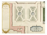 Recueil des &quot;Plans des ch&#226;teaux et jardins de Versailles en 1720&quot; ; Compos&#233; pour Louis-Antoine de