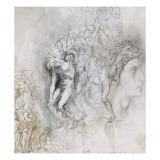 Copie d'après Lorenzo Maitani (4e pilastre de façade  personnages de l'Enfer  cathédrad'Orvieto)