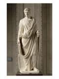 Statue masculine drapée L'empereur Auguste (27 av J-C-14 ap J-C) Le portrait reflète