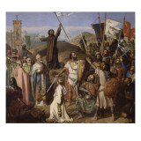 Procession des crois&#233;s conduits par Pierre l&#39;Ermite et Godefroy de Bouillon autour de Jerusalem 