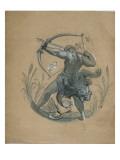 Hôtel Hunebelle (Paris) : grand salon : cycle des douze travaux d'Hercule : Hercule et les oiseaux