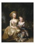 """Marie-Thérèse-Charlotte de France  """"Madame Royale"""" (future duchesse d'Angoulême) (1778-1851) et"""