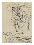 Etude pour une nymphe débridant l'un des chevaux d'Apollon