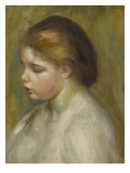 Jeune femme nue en buste