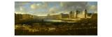 Vue perspective No1 de la Seine de Paris sur le palais du Louvre  depuis le Pont Neuf vers 1666