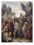 Le dauphin Charles (futur Charles V) rentrant au Louvre après l'assassinat d'Etienne Marcel et la