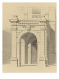 Hôtel de M Fould (rue de Berri  75008 Paris) par H Labrouste : portique de la façade principale