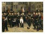 Adieux de Napoléon Ier à la garde impériale dans la cour du cheval blanc du château de