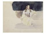 Jeune femme juive assise