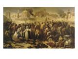 Prise de Jérusalem par les croisés  15 juillet 1099 (Godefroy de Bouilon rendant grâce à Dieu en