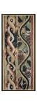 Tapisserie : 1er registre : torsade multicolore ; registre inférieur : rinceau de vigne (feuilles