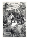 """Jules Verne  Frontispiece of """"North Against South"""""""