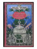 "Jules Verne  Cover of ""Around the World in 80 Days"" and ""Doctor Ox"""