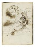 Album : Femme allongée sous un arbre  et trois femmes vues en buste dans un nuage