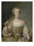 Madame Sophie de France  fille de Louis XV (1734-1782)  représentée en buste tenant une guirlande