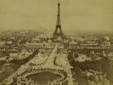 Paris  1900 World Exhibition  View of the Champ De Mars from the Trocadero