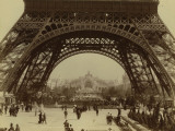 Paris  1900 World Exhibition  Shot of the Eiffel Tower from the Champ De Mars