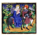 Manuscript of the Hours of Rohan-Montauban: The Flight into Egypt