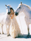 Woman with White Horses