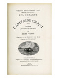 Jules Verne  &quot;The Children of Captain Grant&quot;  Flyleaf