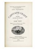 """Jules Verne  """"The Children of Captain Grant""""  Flyleaf"""