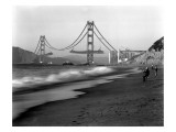 Golden Gate Bridge under Construction  From Baker Beach  c1936