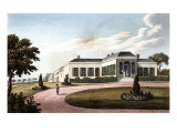 Engraving  &quot;View of the Longwood House Near the Garden&quot; (1819)