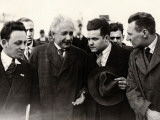 Einstein Upon His Arrival in Anvers  1933