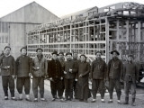 China  Local Employees Working at Construction of Railway Wagons
