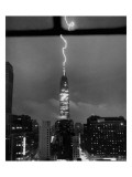 Lightning Striking the Empire State Building  New York City  July 9  1945