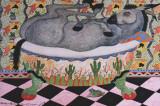Mule in Bath Reproduction d'art par Carol Grigg