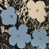 Flowers  c1965 (3 blue  1 ivory)