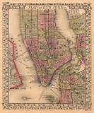Plan of New York City  c1867