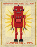 Ted Box Art Robot Reproduction d'art par John Golden