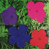 Flowers, c.1964 (1 purple, 1 blue, 1 pink, 1 red) Reproduction d'art par Andy Warhol