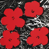 Flowers (Red), c.1964 Reproduction d'art par Andy Warhol