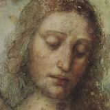 Study of Christ for Last Supper (detail) Reproduction d'art par Leonardo Da Vinci