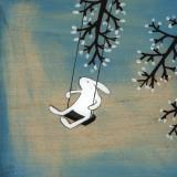 Suivez votre coeur, balançant tranquillement Reproduction d'art par Kristiana Pärn