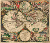 World Map  c1689