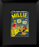 Marvel Comics Retro: Millie the Model Comic Book Cover 45  in Bathing Suit  at the Beach
