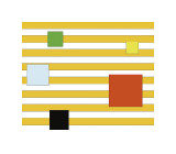 Color Block on Stripe