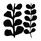 Maidenhair (black on white)