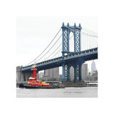 Manhattan Bridge with Tug Boat