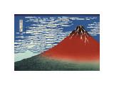 Red Fuji Giclée par Katsushika Hokusai