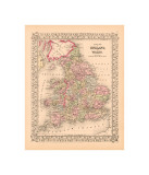 County Map of England and Wales  c1867