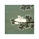 Rabbits on Marshmallow Tree Giclée par Kristiana Pärn