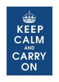 Keep Calm (navy)